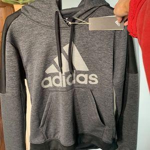 Adidas Grey Hoodie with Logo - Size M (NWT)